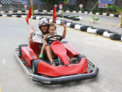 Mini racing fun in Boracay Beach through Go Karting