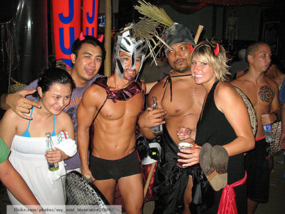 Wild Halloween Party In Boracay
