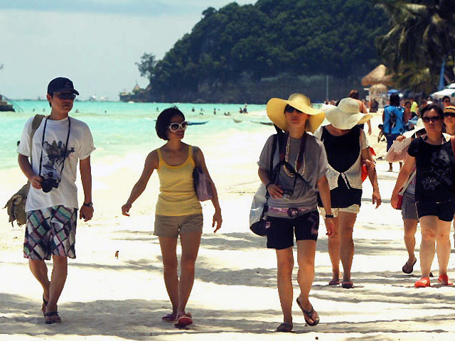 Korean Tourists in Boracay