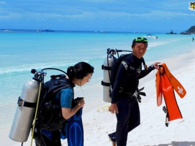 Diving - Popular among tourist in Boracay