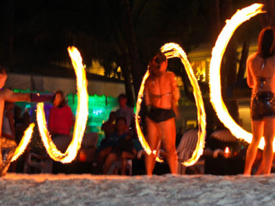 Fire Dancing in Boracay Island