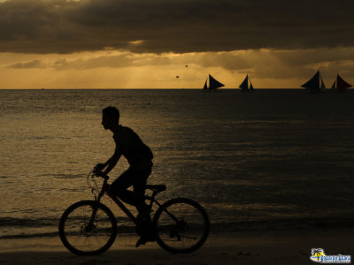 Biking In Boracay Philippines