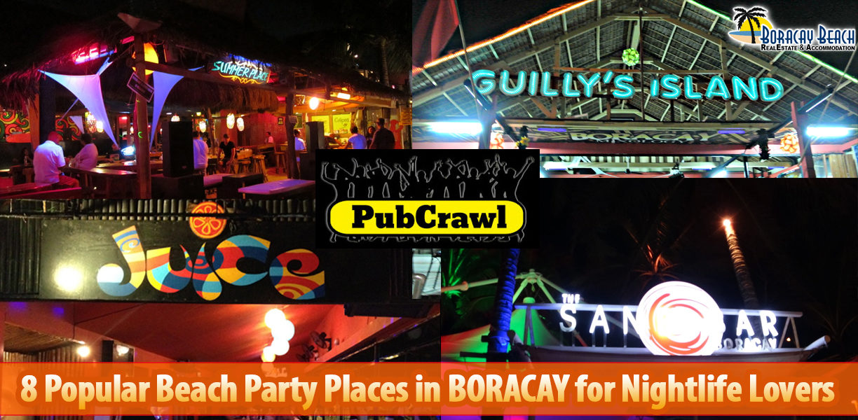 8 Popular Beach Party Places in Boracay