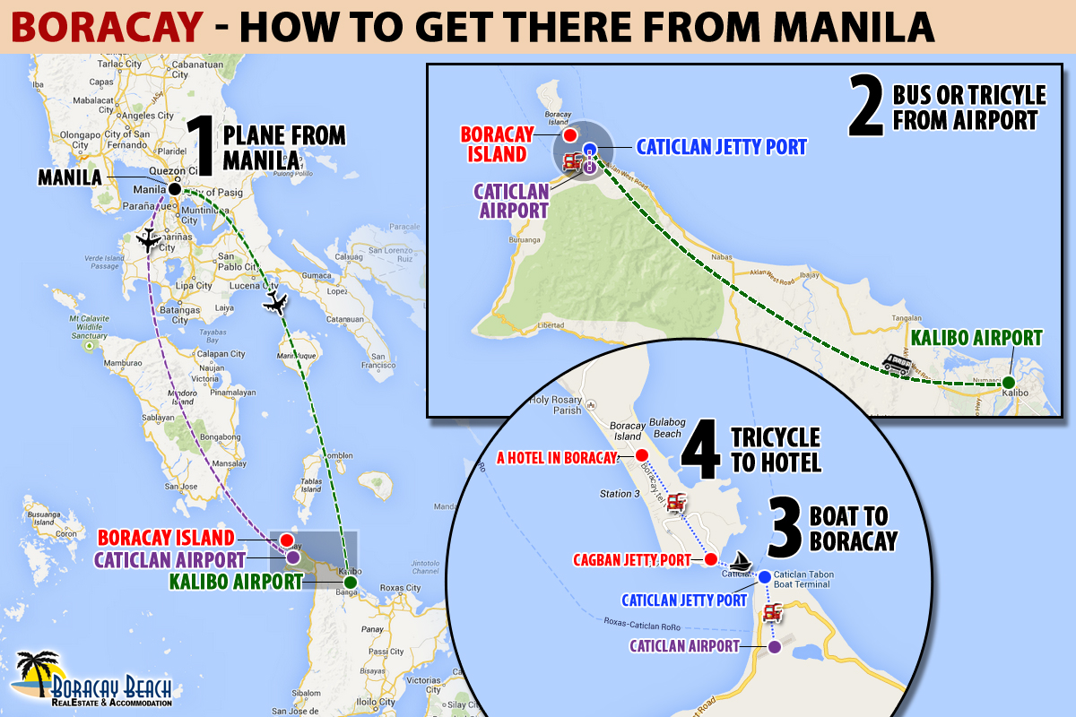 Infographic: How To Go To Boracay From Manila