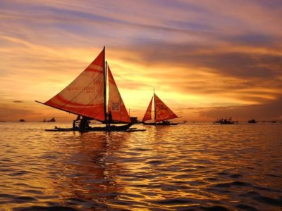Sunset Cruise Sail Boat Boracay Beach Guide
