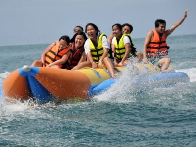 Thrilling Banana Boat or Dragon Boat Experience Banana Boracay Beach Guide